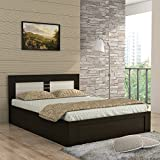 #2: Spacewood Ruby Queen Size Bed with Storage (Woodpore, Fumed Oak)