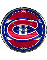 NHL Chrome Uhr Wanduhr Montreal Canadiens