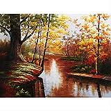 ZGGDYY malen nach Zahlen Red Marsh Landschaft - DIY Digital Painting Digital Moderne Wandkunst Leinwand Gemälde einzigartiges Geschenk Home Decor 40x50cm(16x20in)