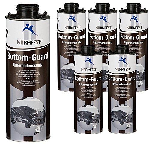 Auprotec® Normfest Unterbodenschutz Steinschlagschutz Bottom Guard 1 L schwarz (6 Dosen)