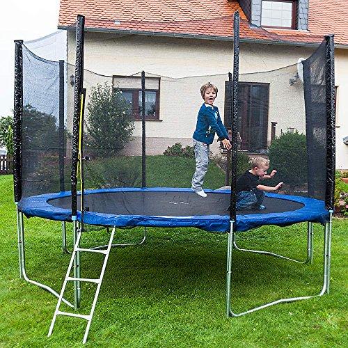 Gartentrampoline Trampoline Outdoor-Trampoline Fitness-Trampoline 305cm , inkl. Sicherheitsnetz, Schuhtasche, Bodenanker, Leiter und Abdeckplane - 3