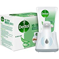 Dettol Handwash No-Touch Automatic Soap Dispenser Device with Aloe Vera Refill – 250ml | Aloe Vera & Moisturizer | 10X…