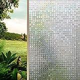 RH Art RH Fensterfolie 3D Selbsthaftend Ohne Kleber Privatsphäre Anti-UV Kein Geruch Sicherheit Mosaik, 90 x 400cm (Mosaik, 90 x 400cm) …