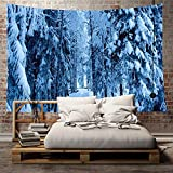 Hoomall Wall Hanging Tapestry Winter Holidays Decorations Collection for Bedroom Living Room Dorm (Ice Forest,78.7x59 Inch)