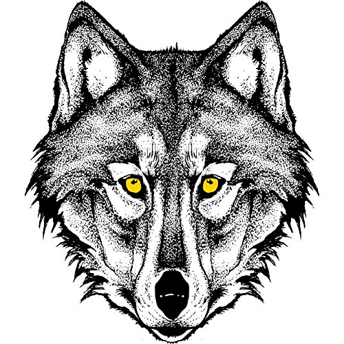 Savage Wolf Men's Graphic T-Shirt - Design By Humans White