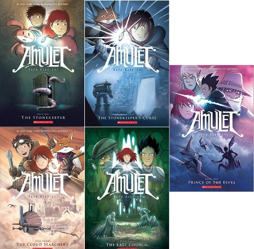Amulet Book Pack: Book One: The Stonekeeper; Book Two: The Stonekeeper's Curse; Book Three: The Cloud Searchers; Book Four: The Last Council; Book Five: Prince of the Elves (Amulet Books One-Five)