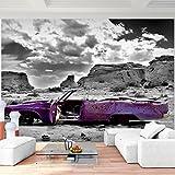 Fototapete Altes Auto Violett Grau Vlies Wand Tapete Wohnzimmer Schlafzimmer Büro Flur Dekoration Wandbilder XXL Moderne Wanddeko - 100% MADE IN GERMANY - Grand Canyon Runa Tapeten 9046010b