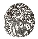 Joyfill Sitzsack 240L, große Dessinauswahl, Made in Germany, stabil und frei von Giftstoffen (535 Dots grau)