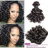 brésilien Cheveux Vierges Loose Wave 3Bundles Tissage Deals Bob 8A Grade...