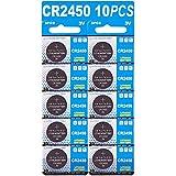 Batteria CR2450 al litio 3V, pulsante a bottone elettronico per calcolatrici giocattoli (10 pezzi)
