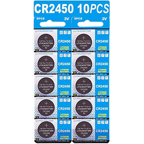 10 Stück CR2450 3V Lithium Knopfzelle Elektro CR 2450 Lithium
