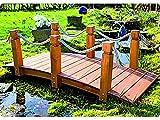 GASPO 49086-2 Teichbrücke Gartenbrücke aus massivem Kiefernholz