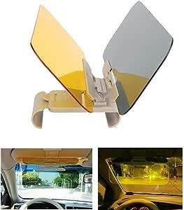 Hltd Auto Sonnenschutz Visier Verlängerung 2 In 1 Hd Tag Und Nacht Blendschutz Windschutzscheibe Fahren Visier Auto