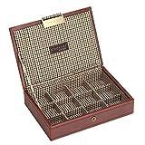 Stackers Aufbewahrungsbox mit Deckel, mit karierter Auskleidung in braun, für Herren
