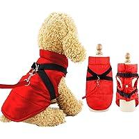 Eastlion Winter Hundemantel Warm Wasserdicht Hundejacke Welpen Kleine Hunde Pet Kleidung Bekleidung Weste mit D-Ring,Rot…
