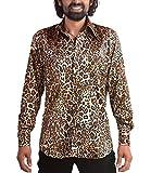 Comycom 70er Jahre Leoparden Muster Hemd L