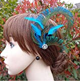 Jelinda women's peacock Bridal headband feather fascinator Headpiece hair accessories (2) Bild 2