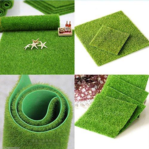 quici 5x Kunststoff Künstliche Gras Matte Dicke Greengrocer Fake Turf Rasen Indoor & Outdoor Home Boden Decor Landschaft Ornament (Fake Indoor-gras)