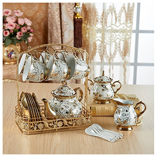 KHSKX-Europäischen Stil Keramik - Kaffee, Kaffee, Schwarzer Tee, Kaffee, Englisch, Teeservice Cup, Kreative Haushalt Wasserflasche, Kessel,Ein (Wrestling-kaffee)