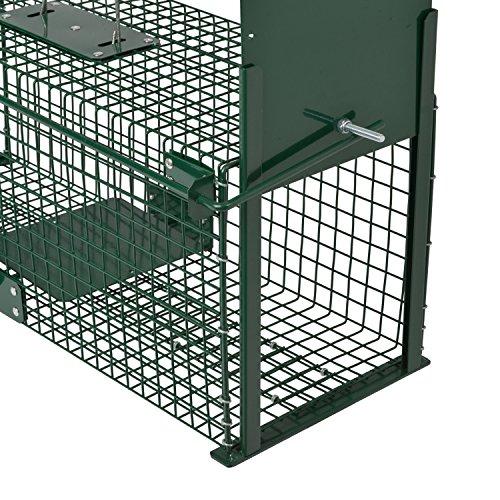 Moorland Safe 5067 Lebend-Falle 61x21x23cm, Marder-Falle, Katzen-Falle, Fuchs-Falle, Hasen-Falle, 2 Eingänge & stabil