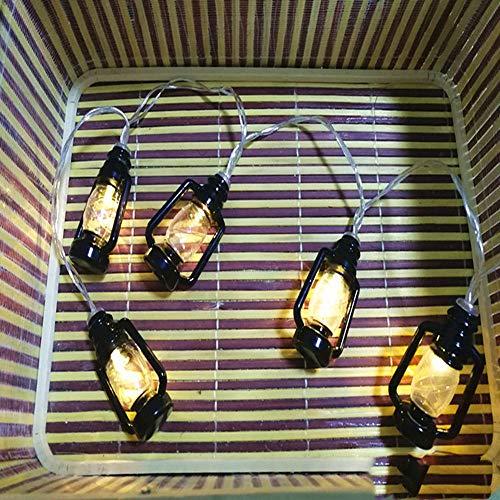 LED Petroleumlampe Laterne Lampe String Batterie Lichter Weihnachten Outdoor Urlaub Hochzeit Bar Dekoration Kleine Laternen (10 Meter 100 Lichter) (Für Kleine Hochzeiten Laternen)