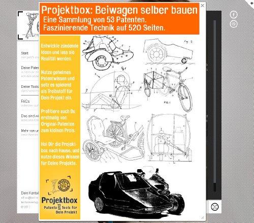 Preisvergleich Produktbild Beiwagen selber bauen: Deine Projektbox inkl. 520 Seiten Original-Patente bringt Dich mit Spaß ans Ziel!