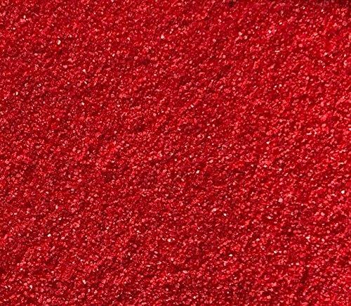 Rhinestone Paradise Dekosand Rot 600g Quarzsand Deko Sand Streusand Streudeko Roter Sand Streusand Tischdeko Dekorationssand