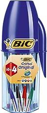 Bic Cristal Original - Penna a Sfera Cristal, Confezione da 20 Pezzi, Colori Assortiti