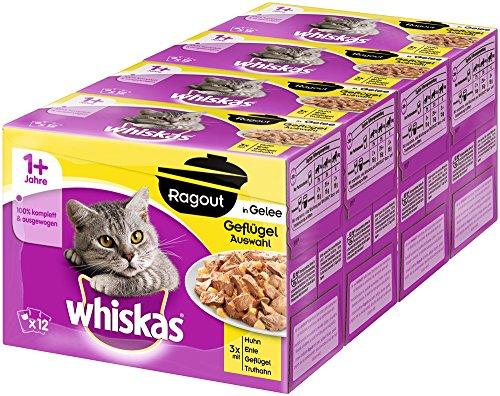 whiskas-katzenfutter-nassfutter-adult-1-ragout-geflugelauswahl-in-gelee-48-beutel-4-x-12-x-85g