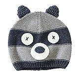 Unisex Modisch Herbst Winter Bär Baby Kinder Hut Strickmütze Mütze M
