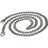Fenteer 100cm DIY Rucksack Riemen Metall Kette Strap, Taschenzubehör Ketteriemen Trageriemen Schulterriemen Schultergurt für