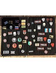 Velcro Negro Mediano Moral Pantalla Parche Panel