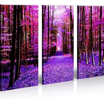 Run 3 quadri moderni su tela pronti da appendere montata su pannelli in legno fotografia - Quadri da appendere in bagno ...