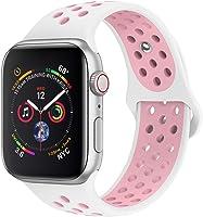 jwacct Correa Compatible para Apple Watch 38mm 40mm 42mm 44mm, Correa de Repuesto de Silicona Suave para iWatch Series...
