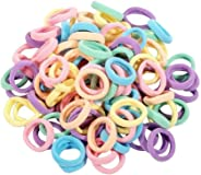 120Pcs Colorful Women Girl Hair Band Ties Rope Ring Elastic Soft Hairband Ponytail Holder for Sport Travel Outdoor Parties Ceremonies Daily Wearing Mother's Day Gift