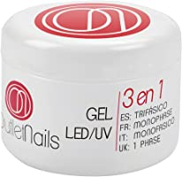 Gel UV 3 en 1 UV/Led Monophase 50ml / 3en1 gel ongles = Base + Construction + Finition / monophasés Mono Phase / Gel...