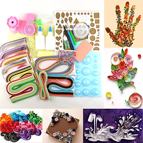 MAGIC SHOW 1380 Strips Papier Quilling DIY Bastelset Brett Mould Crimper Comb Tools Kit TO314