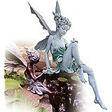 Statue Jardin Exterieur,Sculptures et Statues de Jardin,Jardin Statue, Jardin Féerique Accessoires, 18cm Artisanat Résine Hau
