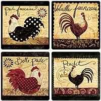 CoasterStone as2735 Absorbente Posavasos, 4 – 1/4-inch, francés Gallo Collection