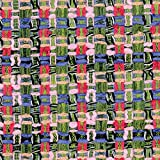 Z7493 Linton Tweed-Stoff, Meterware, Grün, Blau und Rosa