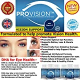 #1 BEST VITAMINS FOR EYES - Natural Vision Support with DHA.★ Promotes Ocular & Macular Health + Powerful Antioxidant Eye Nutrition For Men, Women & Seniors★ -Advanced Eye and Vision Support Formula★ Formulated to help promote Vision Health★ 100% Satisfaction Guarantee★ Made in The UK.