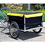 Bike Cargo Trailer Bicycle With Cover Shopping Cart Carrier...