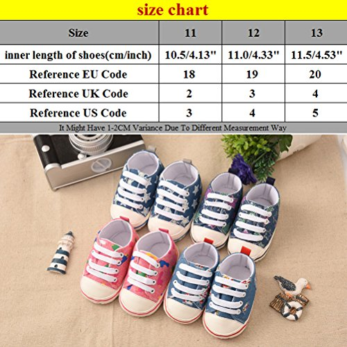 Newborn Baby slip Gl010 Casual Blue Zhuhaitf Soft Ausgezeichnet Sole Non amp;floral Shoes Sneaker TE4YTxUqw