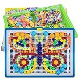 Jouet de Puzzle Multicolore Jouet Educatif Créatif DIY pour Bébé Jouets d'Eveil et 1er Age Jeux de Construction pour Enfant 3-6 ans Bon Cadeau pour Noël
