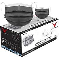 URUSANA 50 Stück Medizinische Masken Grau OP Masken Grau CE Zertifiziert EN14683 TYP IIR BFE ≥ 98% Graue Gesichtsmaske…