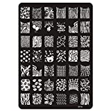 1-Pcs Fascinating Popular Hots Nails Art Stamping Steel Acrylic Template Tips Decorations Model Patterns XY-02