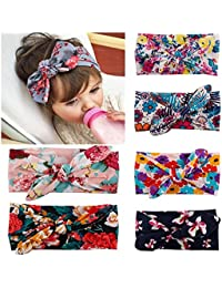 Baby Headbands Turban Knotted Girl's Hairbands for Newborn Toddler and Childrens (Pack of 6)