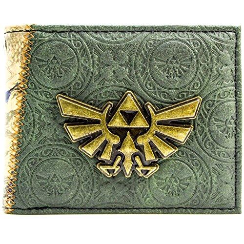 Legend of Zelda Twilight Princess Prägemuster Grün Portemonnaie Geldbörse (Zelda Kostüm Skyward Sword)
