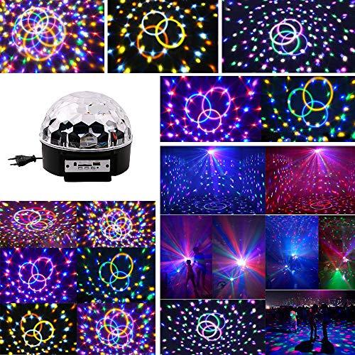 ED, 6 Farbe RGB Partylicht USB Musikgesteuert DJ Party Licht Drehbares Partylicht Disco Partyleuchte für Geburtstage, Disco-Partys,Ballsaal, KTV, Bar, Halloween-Partys ()