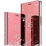 TOPOFU Custodia per Samsung Galaxy A30S Cover,Smart Mirror Ultrasottile Sleep/Wake Cellulare Anti-Drop all-Inclusive Cover co